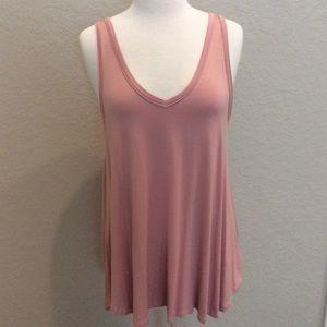 NWT Women's Sleeveless Tunic Top Soft Peach Large